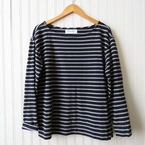 Everlane Long Sleeve Striped Tshirt Knit Top